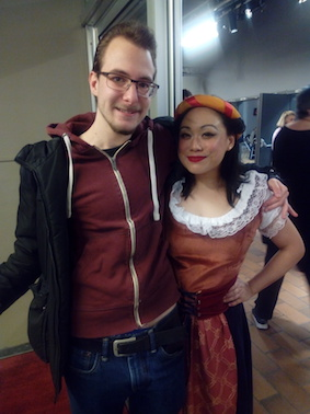 """Me and Robin at ""Kiss Me, Kate"" after the last performance"""