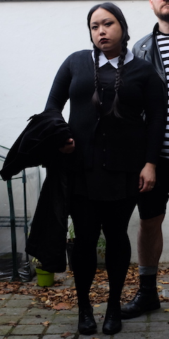 Me as fat Wednesday Addams