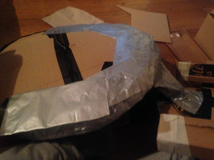Star Trek Enterprise cardboard saucer and body with tissue paper 2
